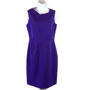 Tahari Arthur S Levine Dress Size 4P Purple Petite